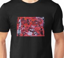 Red on Black - Big Original Wall Modern Abstract Art Painting Unisex T-Shirt