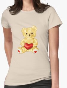 Cute Teddy Bear Pink Pattern T-Shirt