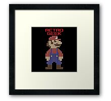 Retro Geek - Mario Framed Print