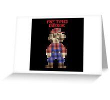 Retro Geek - Mario Greeting Card