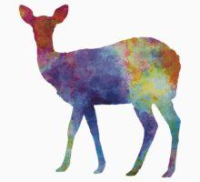 Female Deer 02 in watercolor Kids Tee
