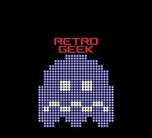 Retro Geek - Pacman Ghost by SingerNZ