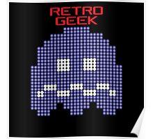 Retro Geek - Pacman Ghost Poster