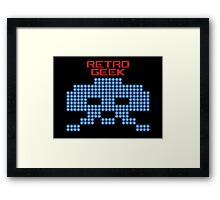 Retro Geek - Space Invaders Framed Print