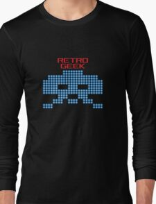 Retro Geek - Space Invaders Long Sleeve T-Shirt