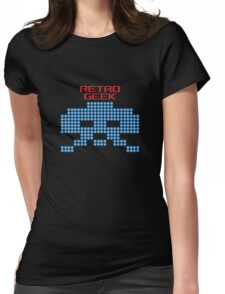 Retro Geek - Space Invaders Womens Fitted T-Shirt