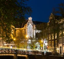 Magical Amsterdam Night - Westerkerk Through the Trees Sticker