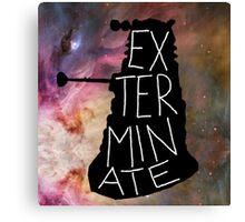 "Darlek ""EXTERMINATE!"" Canvas Print"