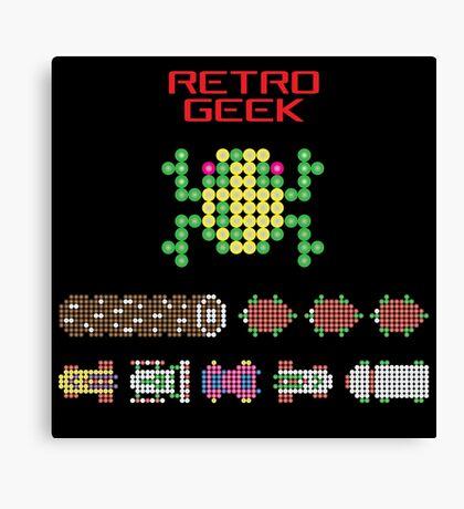 Retro Geek - Frogger Canvas Print