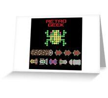 Retro Geek - Frogger Greeting Card