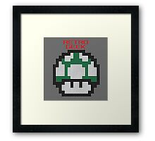 Retro Geek - One Up Framed Print