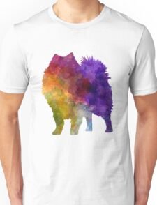 Japanese Spitz in watercolor Unisex T-Shirt