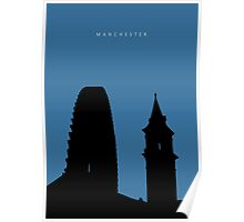 Manchester Silhouette #03 Poster
