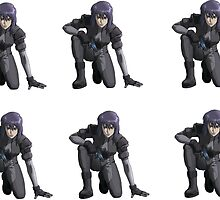 Ghost in the Shell, Major crouching (6 colour stickers) by hamfondler