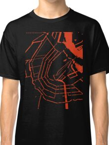 Amsterdam city map engraving Classic T-Shirt