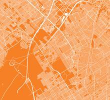 Buenos aires map orange Sticker