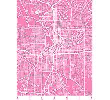 Atlanta map Georgia pink Photographic Print