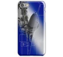 Vulcan Blue Print iPhone Case/Skin