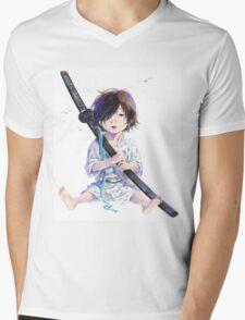 Little Samurai Mens V-Neck T-Shirt
