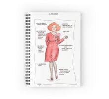 Twin Peaks Fire Walk With Me - Lil The Dancer Spiral Notebook