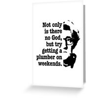 woody allen quote Greeting Card