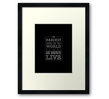 Buffy Typography Inverted Framed Print