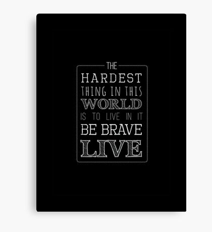 Buffy Typography Inverted Canvas Print