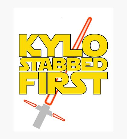 Kylo Stabbed First (Star Wars episode VII) Photographic Print