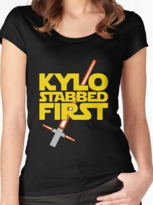 Kylo Stabbed First (Star Wars episode VII) Women's Fitted Scoop T-Shirt