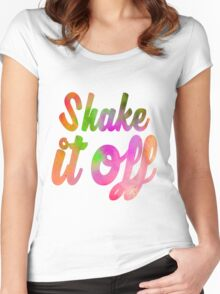 Shake it Off (colour) Women's Fitted Scoop T-Shirt