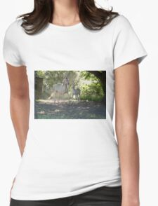 Cremello mare and foal 1 Womens Fitted T-Shirt
