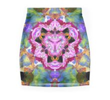 Flowers Mirrored Abstract Mini Skirt