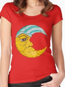 Old Man Moon Women's Fitted Scoop T-Shirt