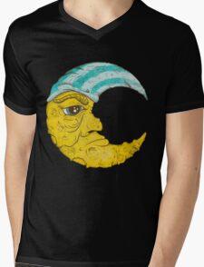 Old Man Moon Mens V-Neck T-Shirt