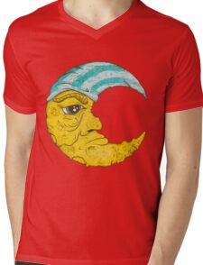 Old Man Moon Mens V-Neck T-Shirt