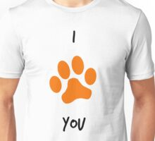 I *paw emoji* You Unisex T-Shirt
