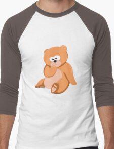Cute Bear Relaxing Under a Tree Men's Baseball ¾ T-Shirt