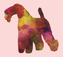 Kerry Blue Terrier 02 in watercolor Kids Tee