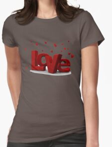 0 love Womens Fitted T-Shirt