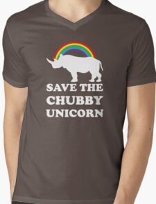 Save The Chubby Unicorn Mens V-Neck T-Shirt