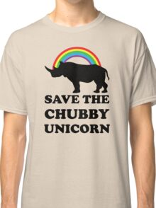 Save The Chubby Unicorn, Funny Rhino Classic T-Shirt