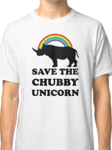 Save The Chubby Unicorn, Funny Rhino Classic T-Shirt