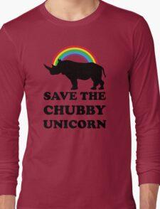 Save The Chubby Unicorn, Funny Rhino Long Sleeve T-Shirt