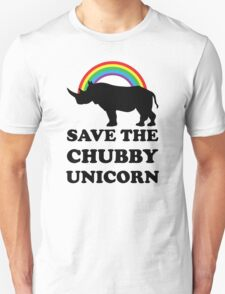 Save The Chubby Unicorn, Funny Rhino Unisex T-Shirt