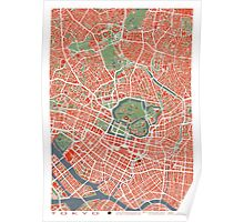 Tokyo map classic Poster