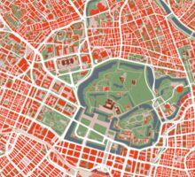 Tokyo map classic Sticker