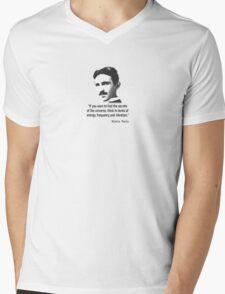 Quote By Nikola Tesla Mens V-Neck T-Shirt