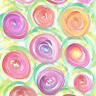 Digital Abstract Roses Watercolor by Silvia Neto