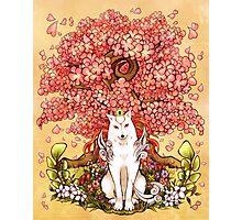 Okami and Sakura Photographic Print
