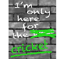 I'm Only Here For The Cricket Photographic Print